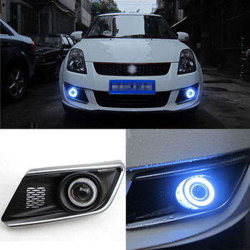 Superb LED Bulbs COB Fog Lights  Source Angel Eye Bumper Cover Fit For Suzuki Swift 2013