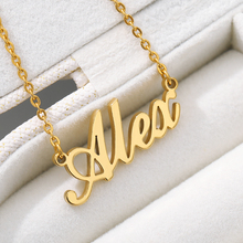 Custom Fashion Stainless Steel Name Necklace Personalized Letter Gold Chain Choker Necklace Pendant BFF Jewelry Best Friend Gift