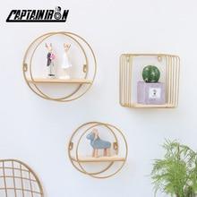 Wall-Shelves Decorative Scandinavian-Style Living-Room-Storage Geometric-Shape Metal