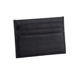100% Cow Genuine Leather ID Card Holder Litchy Grain Candy Color Travel Card Cover Multi Slot Slim Card Case