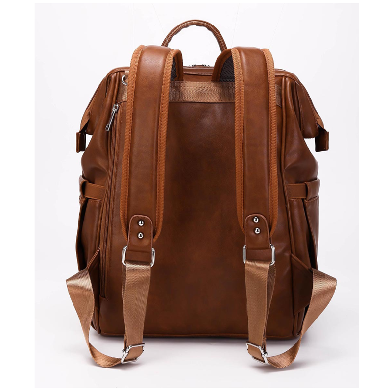 Pu Leather Diaper Bag Backpack Waterproof Maternity Bag for Stroller Baby Mummy Bags PU Nappy Bag Large Capacity Bottle bag