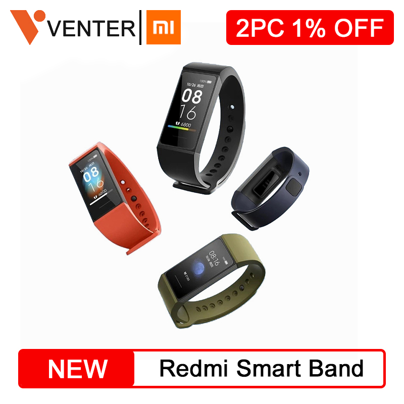 New Xiaomi Redmi Band Smart Wristband 4 Color Heart Rate Fitness Bracelet 1.08 Large Touch Screen Monitor Activity Tracker Band image