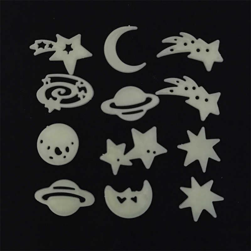 Dekoracje ścienne sztuki planety System fluorescencyjne ścienne kij wszechświata Planet Galaxy dzieci pokój sypialnia Luminous naklejki ścienne