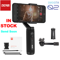 InStock Zhiyun Smooth Q2 / Smooth 4 3 Axis Smartphone Handheld Gimbal Stabilizer for iPhone 11 Pro Max XS X 8P Samsung S10 S9 S8