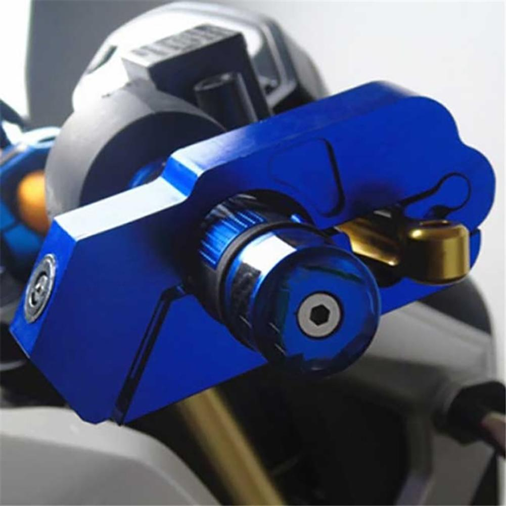 Motorcycle Scooter ATV Handlebar Grip Security Safety Metal Lock With 2 Keys
