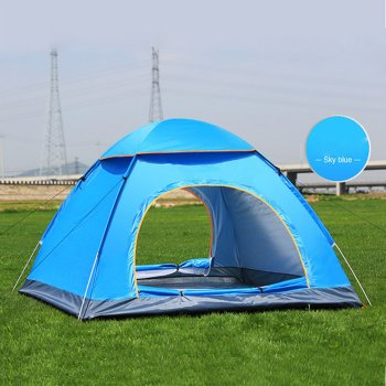 Outdoor Automatic Tents Camping Waterproof Tents 3-4 People Beach Camping Showers Speed Open Double Tent 2