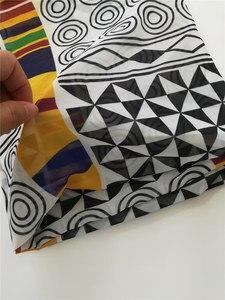Image 3 - Afrikaanse Chiffon Digitale Bedrukte Stof Patroon Hot Selling Afrikaanse Wax Prints Chiffon Stof Voor De Zomer Jurken CHF 025 028