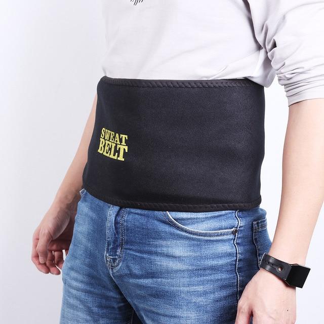 Men Adjustable Black Sweat Belts Neoprene Slimming Sports Waist Safety Trainer Waist Support Kidney Belt 1