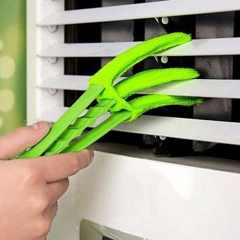 Съемное окно слепой очиститель микрофибра моющаяся щётка для чистки с зажимом Бытовая тряпка окно листья приспособление для чистки жалюзи ...