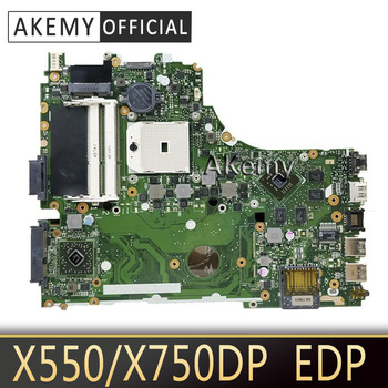 Placa base Akemy X550DP EDP REV 2,0 para ASUS X750DP K550DP placa base para portátil X750DP placa base X550DP placa madre test OK