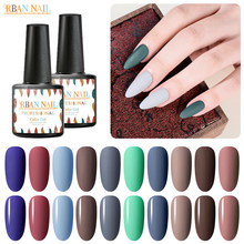 RBAN NAIL Matte Kleur UV Gel Nagellak Bruin Grijs Pure Soak Off Nail Art UV Gel Lak Top Base coat Lak(China)