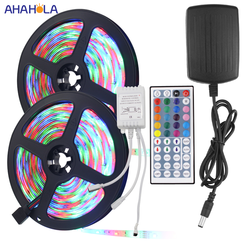 10m 5m Led Rgb Strip Waterproof SMD 2835 60 Leds/m Tiras Led Rgb 12v Impermeable Led Rgb Strip Light IR Remote And Controller