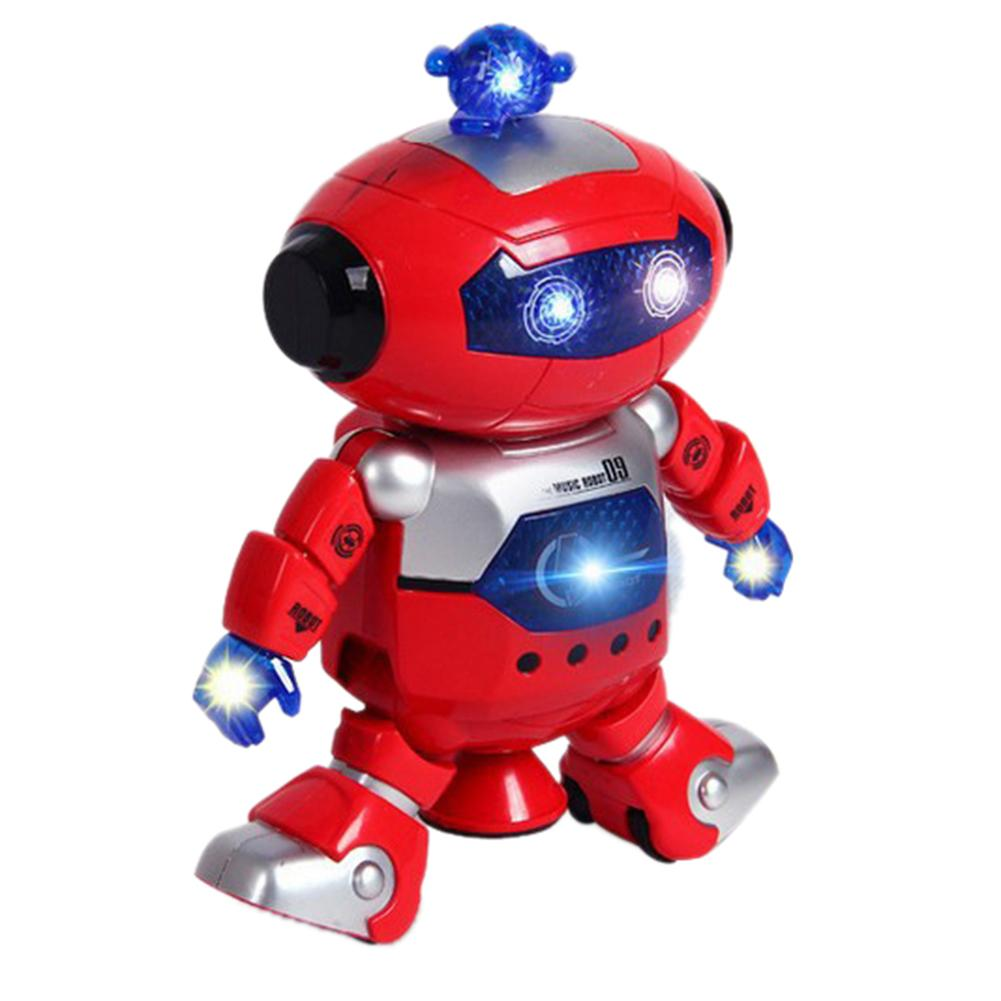 Electronic Robot Toy For Kids Support Astronaut Walking Dance 360 Degree Rotation Light Music Robot Electronic Toy Children Gift