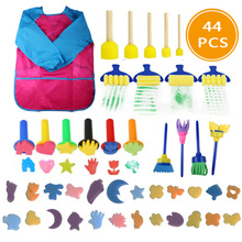 Painting-Brushes-Kit Sponge Gift Early-Learning DIY Mini Kids Child Play 44pcs