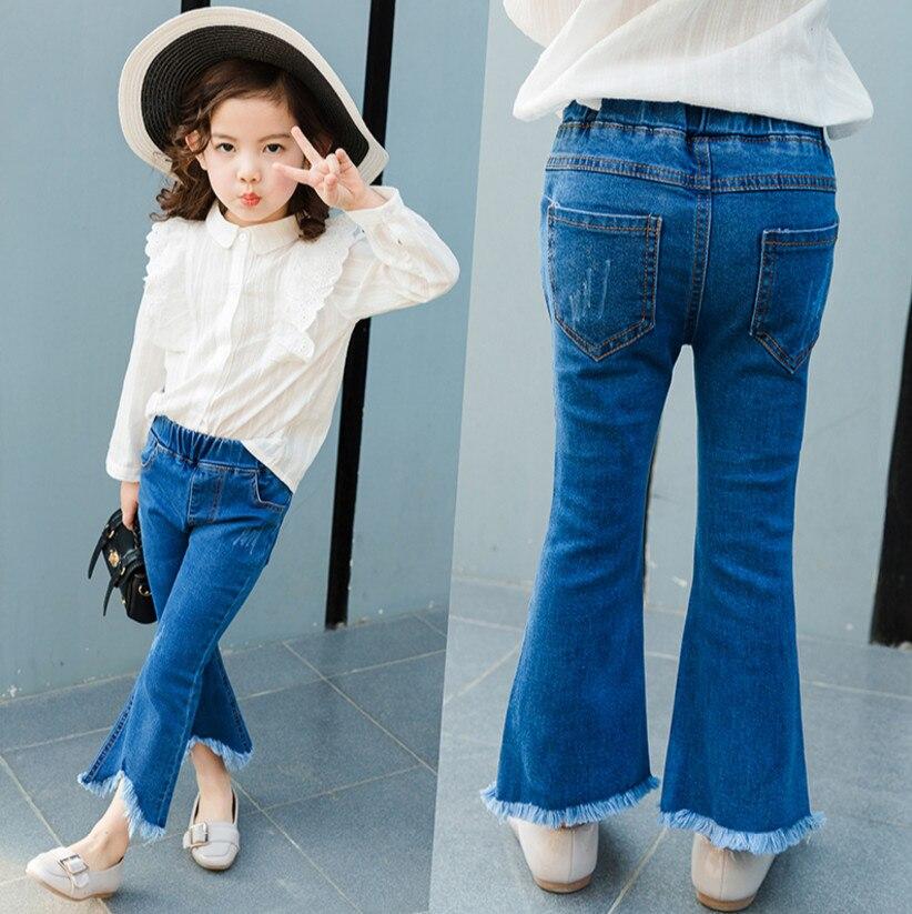 Baby Girl Floral Stretch Leggings BELL-BOTTOMS Pantalon Enfant Flare Pantalon