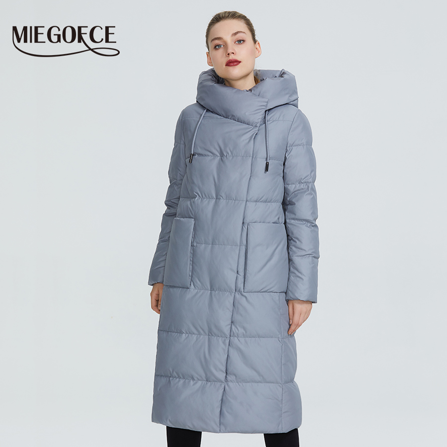 MIEGOFCE 2019 Women Winter Jacket Windproof Coat With Stand-Up Collar And Hood Women Parka Made Of Biopuh Will Protect From Cold