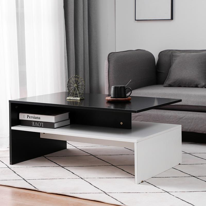 Household Conference Table Coffee Table Black And White Minimalist Table Cafe Hall Dining Table For Bedroom Living Room HWC