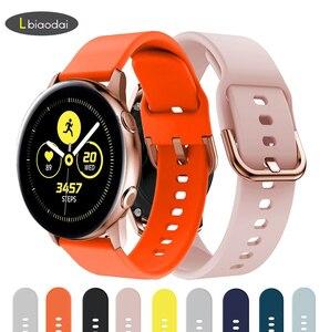 20mm watch strap for Samsung Galaxy watch 3 Active 2/42mm Gear S2/Sport silicone watchband bracelet smartwatch Active2 40mm 44mm