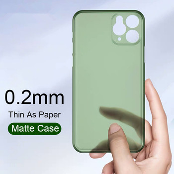 Ultra Thin Matte Transparent PP Phone cases For iPhone 6 6S 7 8 Plus XR X XS 11 Pro Max SE2020 Case Luxury 0.2mm Cover LOGO Capa image