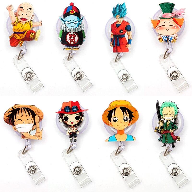 Japan Cartoon Hero Clown Retractable Creative Card Holder Badge Reel Nurse Exhibition Enfermera Girl Name Card Chest CaptainBoy