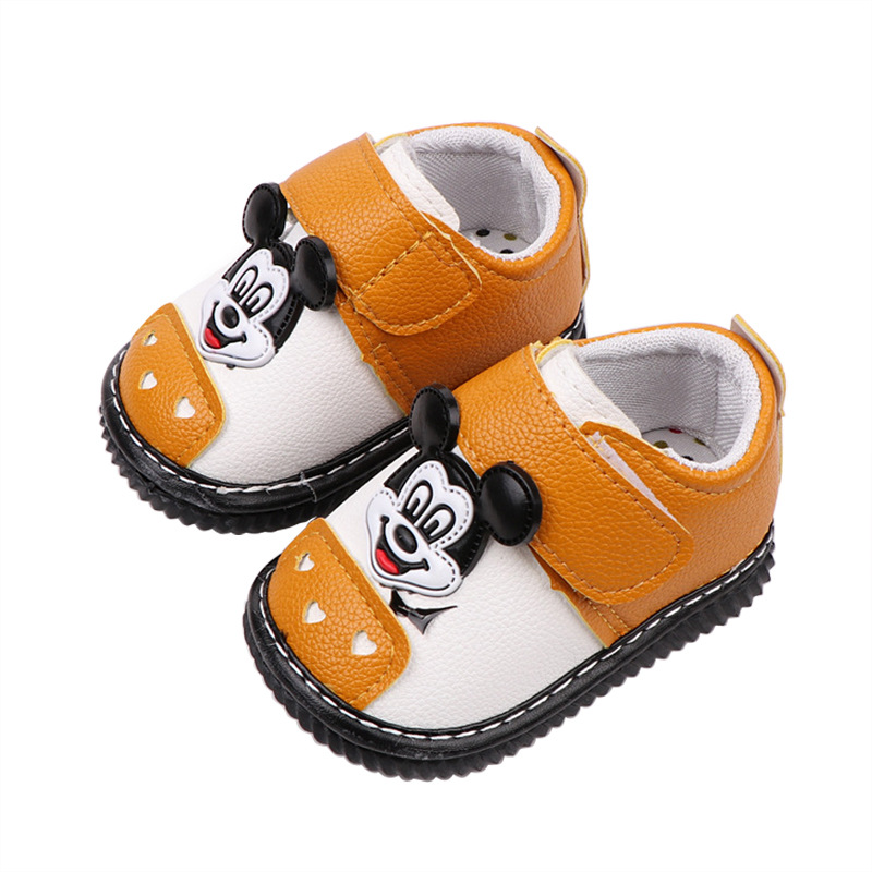 Boys Cartoon Mickey Mouse Baby Casual Shoes Girls Minnie Soft Light Shoes Eu Size 15-19