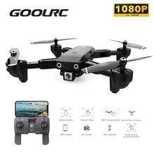 CSJ GPS WIFI Dron fpv z kamerą HD 1080P 18 minut czas lotu RC Drone S166GPS Quadcopter Selfie Dron zabawka RC Drone dla początkujących tanie tanio GOOLRC Metal Z tworzywa sztucznego 3 7V 300mAh Lipo battery 15 * 13 5 * 5cm (FOLD) 30 * 27 * 5cm (OPEN) Silnik szczotki