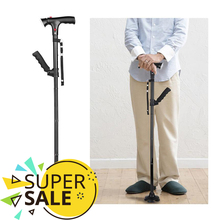 Trekking Stick Expandable Baton Telescopic Folding Cane Crutch Elder LED for The