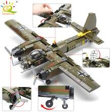 HUIQIBAO 559 قطعة Swat فريق WW2 اللبنات العسكرية مقاتلة طائرة حربية سلاح الجيش الجندي أرقام الطوب ألعاب أطفال هدية