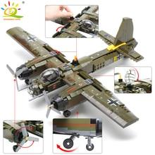 HUIQIBAO 559pcs Swat צוות WW2 אבני בניין צבאי מטוס קרב קרב נשק צבא חייל דמויות לבנים ילדי צעצועי מתנה