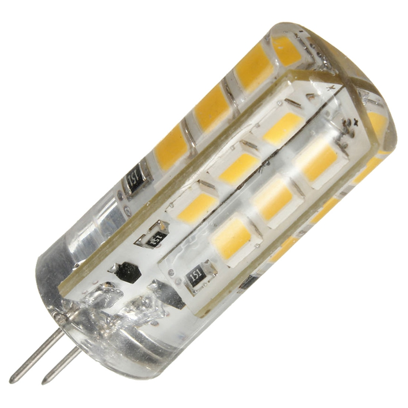 <font><b>10</b></font> <font><b>Pcs</b></font> <font><b>G4</b></font> 3W 2835SMD 24 LED LIGHT SILICONE CAPSULE REPLACE HALOGEN BULB LIGHT 12V - Warm White light image