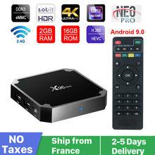 Autêntico x96 mini neotv pro caixa de tv inteligente android 9.0 navio da frança s905 quad core 8g 16g hd completo neo tv pro 2 conjunto caixa superior