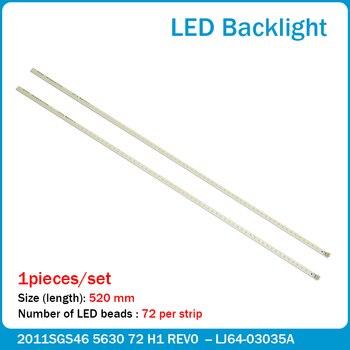 1pcs LED strip 72leds SLED 2011SGS46 5630 72 H1 REV0 LJ64-03035A for Samsung LTA460HJ15 LTA460HJ14 LTA460HQ12 лазер светодиодная линейка 5630 72 led daywhite 12v