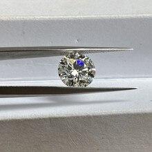 Laboratuvarı elmas taş 1 karat 6.5mm IJ renk VVS1 serbest moissanit taş yüzük küpe takı yapımı