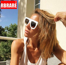 RBRARE Half Frame Gradient Big Sunglasses Women Wild Glasses For Oculos De Sol Feminino Classic Small Face Unisex