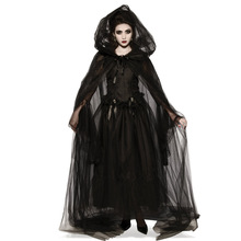 Halloween costume adult rave party mysterious witch cloak vampire dark cosplay halloween