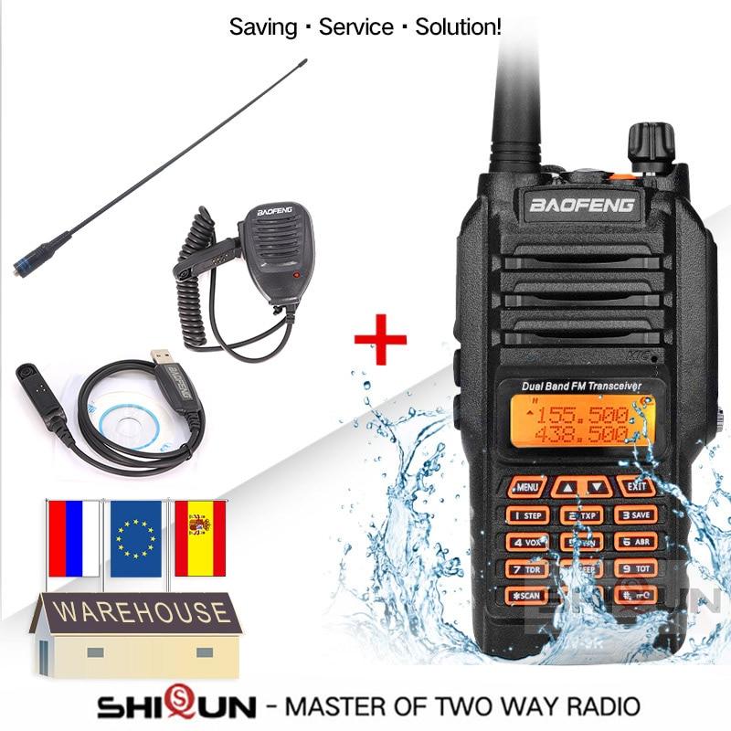 Baofeng UV-9R Plus Acoustic Headset IP67 Waterproof Dual Band 136-174/400-520MHz Ham Radio Baofeng 8W Walkie Talkie 10 KM UV 9R