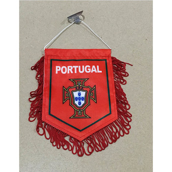 2018 Copa del Mundo de fútbol nacional de Portugal 15cm * 16cm decoraciones de Navidad de doble cara para coche bandera para casa Banner regalos