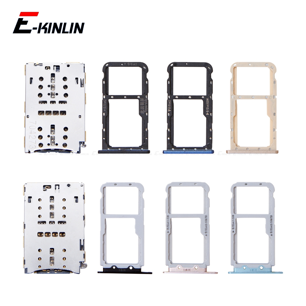 Micro SD / Sim Card Tray Socket Adapter For HuaWei Nova 3i 2i 2S Connector Holder Slot Reader Container