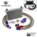 Универсальный Масляный Радиатор 25 рядов AN10 комплект масляного охладителя для передачи двигателя + фильтр для перемещения с наклейкой PQY + ко...