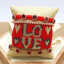 Zhongvi в богемном стиле браслет для женщин miyuki браслеты