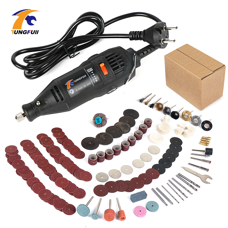 TUNGFULL Engraver 30000rpm 220V Tool Engraver Electric With Dremel Accessories Woodworking Tools Mini Drill Dremel Cutting Disc