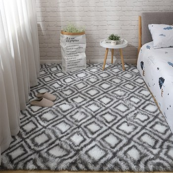 Nórdicos ins mesita para café de sala de estar alfombra cama tapete...