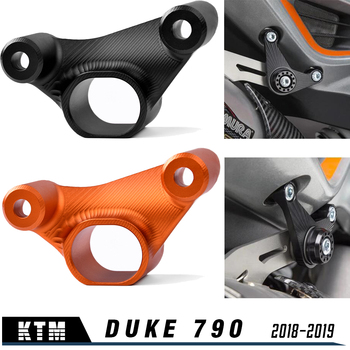 Motorcycle DUKE 790 18 19 New Pipe Exhaust Hanger Mount Bracket for KTM 790 Duke 2018 2019 Accessories car rubber exhaust hanger pipe mount mounting bracket hanger heavy duty replacement sport version 12mm 4 holes universal plastic