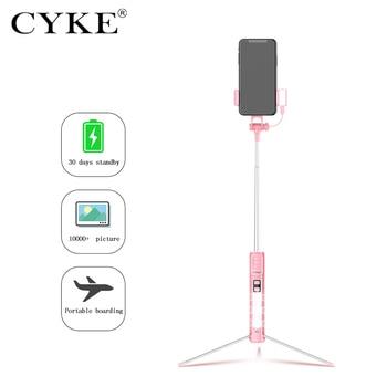 CYKE a18 Selfie Stick-einbeinstativ Stativ Bluetooth Fernbedienung Selfie Stick Integrierte Stealth Stehen 110cm
