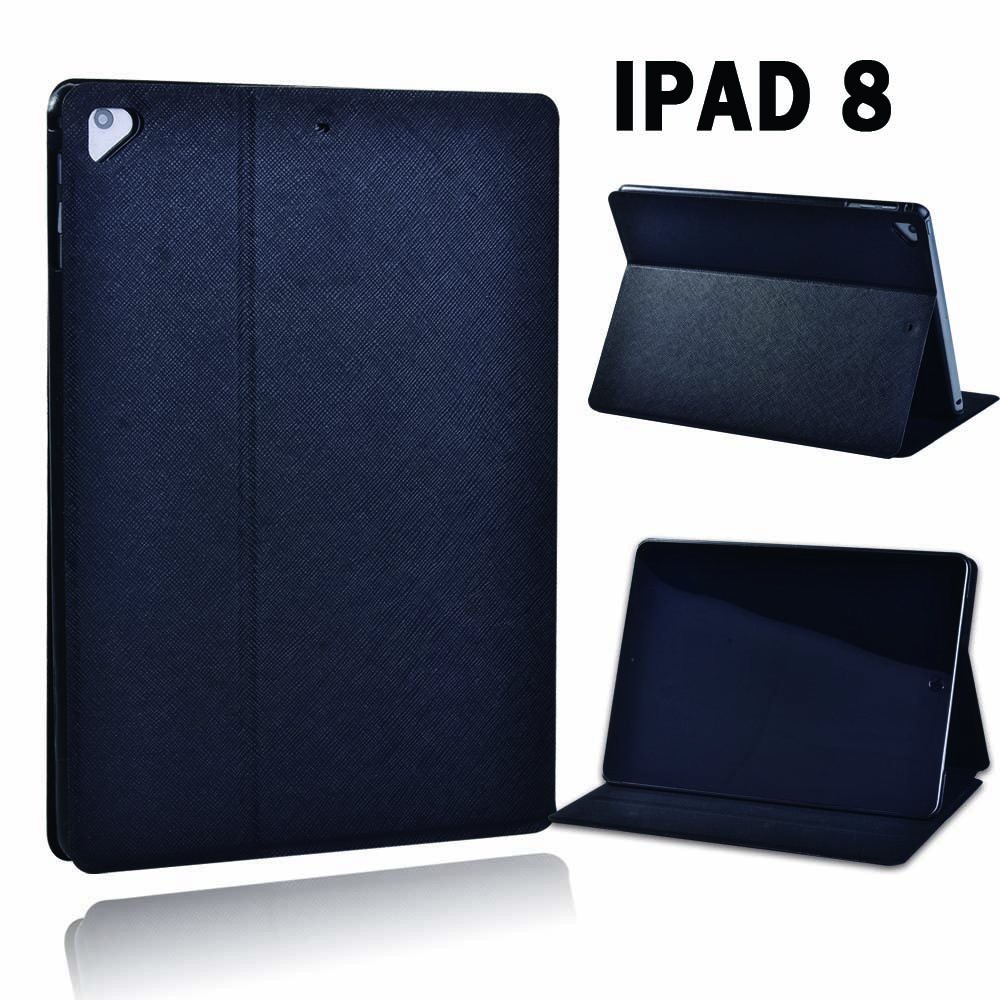 For Apple iPad 8 10 2 2020 8th 8 Generation A2428 A2429 Black PU Leather Smart