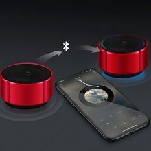 цена на Mini Portable Wireless Bluetooth Speaker with Microphone FM Radio Music Play Support TF Card Speaker for Cycling Camping Outdoor