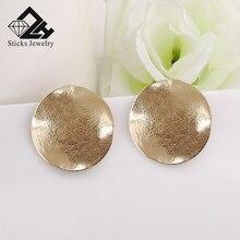 (1 pair / lot) 100% environmentally friendly zinc alloy convex surface earrings