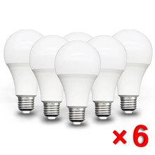 6 teile los E27 led-lampe AC 220V SMD2835 3W 6W 9W 12W 15W 18W 20WLED lampe Saving Kalt Warm Weiß Led Lampen für Outdoor Licht cheap ANNUOSENCHIP LED-Leuchten 270 ° Epistar Cool White(5500-7000K) 50000 Ringförmig ROHS Luftblasen-Kugel-Birne 1 2m 500-999 lumen
