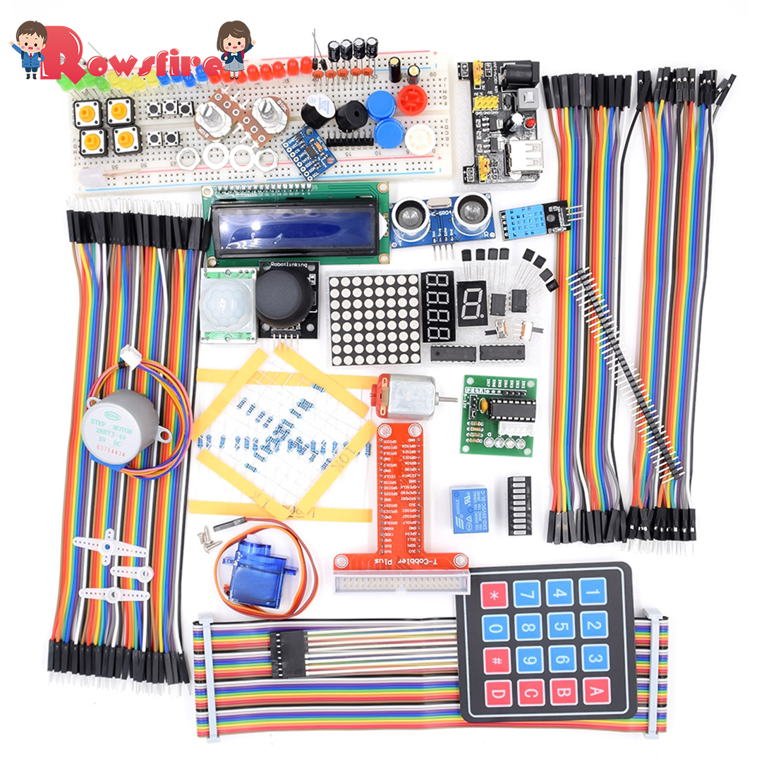 Ultimate Learning Kit With LCD1602 Three-Axis Accelerometer Sensor Module(ADXL345) For Raspberry Pi