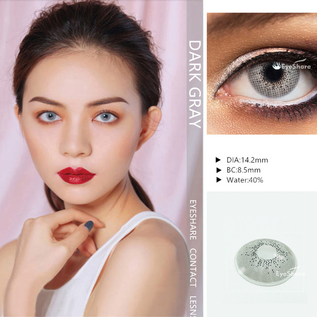 EYESHARE- 1 Pair  Bitas Ocean Color  Beautiful Pupil Contact Lenses Cosmetic Contact Lens Eye Color (2pcs) 4